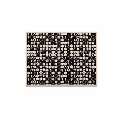 "Nandita Singh ""White & Black Funny Polka Dots "" Black Abstract KESS Naturals Canvas (Frame not Included) - KESS InHouse  - 1"