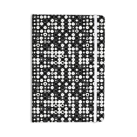 "Nandita Singh ""White & Black Funny Polka Dots "" Black Abstract Everything Notebook - KESS InHouse  - 1"