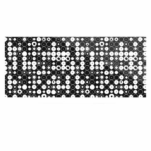 "Nandita Singh ""White & Black Funny Polka Dots "" Black Abstract Luxe Rectangle Panel - KESS InHouse  - 1"