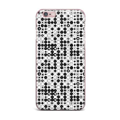 "Nandita Singh ""Black & White Funny Polka Dots"" White Abstract iPhone Case - KESS InHouse"
