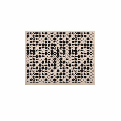 "Nandita Singh ""Black & White Funny Polka Dots"" White Abstract KESS Naturals Canvas (Frame not Included) - KESS InHouse  - 1"