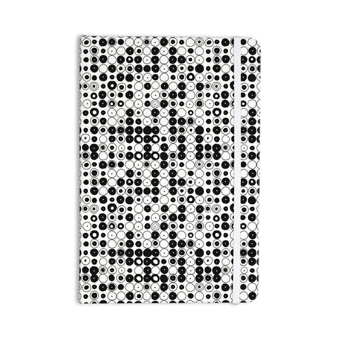 "Nandita Singh ""Black & White Funny Polka Dots"" White Abstract Everything Notebook - KESS InHouse  - 1"