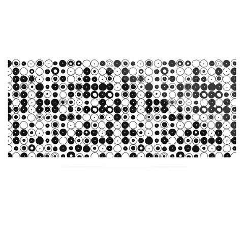 "Nandita Singh ""Black & White Funny Polka Dots"" White Abstract Luxe Rectangle Panel - KESS InHouse  - 1"