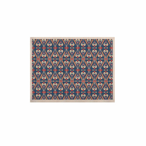 "Nandita Singh ""Beautiful Border"" Blue Pink Ethnic Arabesque KESS Naturals Canvas (Frame not Included)"