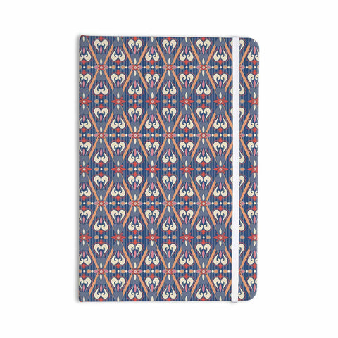 "Nandita Singh ""Beautiful Border"" Blue Pink Ethnic Arabesque Everything Notebook - KESS InHouse  - 1"