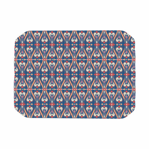 "Nandita Singh ""Beautiful Border"" Blue Pink Ethnic Arabesque Place Mat"