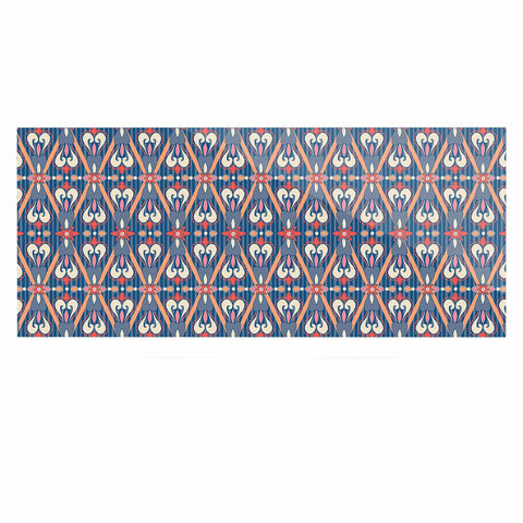 "Nandita Singh ""Beautiful Border"" Blue Pink Ethnic Arabesque Luxe Rectangle Panel"