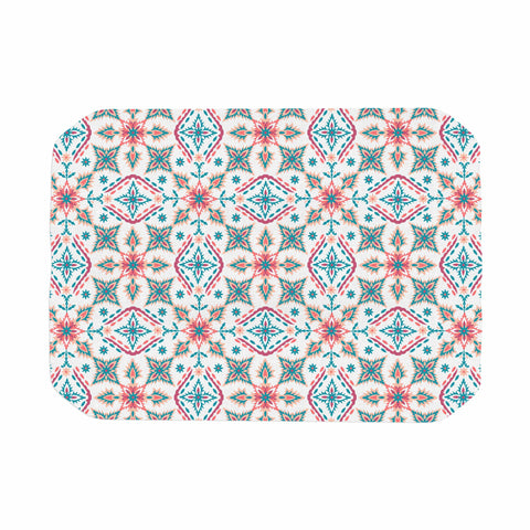 "Nandita Singh ""Moroccan Beauty"" Blue Coral Ethnic Arabesque Place Mat"