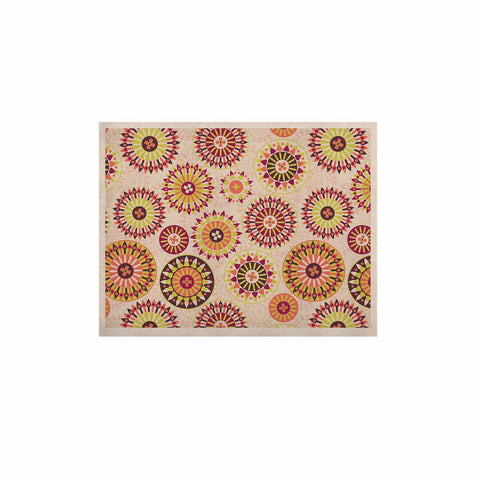 "Nandita Singh ""Mandala Floral"" Pink Multicolor Floral Pattern KESS Naturals Canvas (Frame not Included)"