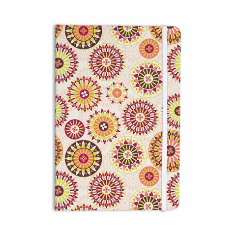 "Nandita Singh ""Mandala Floral"" Pink Multicolor Floral Pattern Everything Notebook - KESS InHouse  - 1"