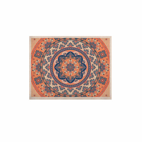 "Nandita Singh ""Mandala Magic"" Beige Coral Digital Ethnic KESS Naturals Canvas (Frame not Included)"