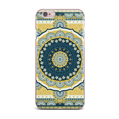 "Nandita Singh ""Chakra"" Yellow Blue Digital iPhone Case"