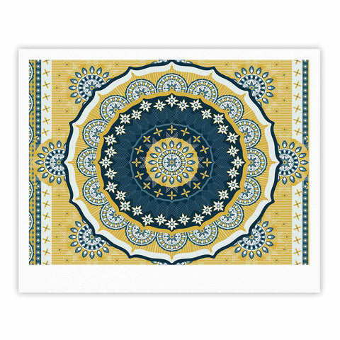 "Nandita Singh ""Chakra"" Yellow Blue Digital Fine Art Gallery Print"