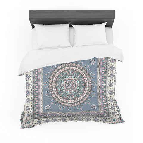 "Nandita Singh ""Chakra - Blue And Purple"" Blue Purple Digital Featherweight Duvet Cover"