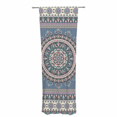 "Nandita Singh ""Chakra - Blue And Purple"" Blue Purple Digital Decorative Sheer Curtain"