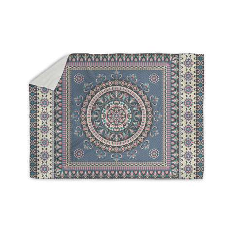 "Nandita Singh ""Chakra - Blue And Purple"" Blue Purple Digital Sherpa Blanket"