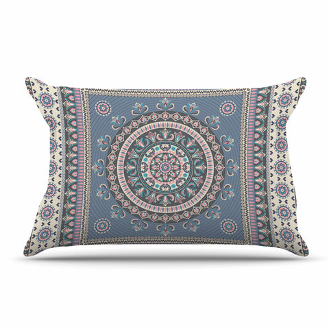 "Nandita Singh ""Chakra - Blue And Purple"" Blue Purple Digital Pillow Sham"