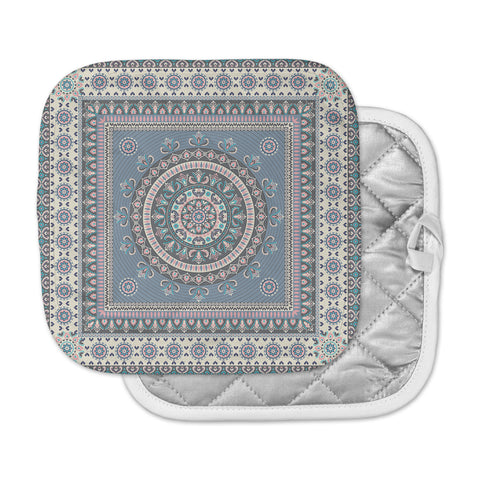 "Nandita Singh ""Chakra - Blue And Purple"" Blue Purple Digital Pot Holder"