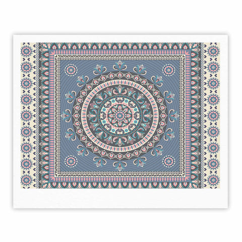 "Nandita Singh ""Chakra - Blue And Purple"" Blue Purple Digital Fine Art Gallery Print"