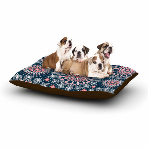 "Nandita Singh ""Noor-blue"" Blue Pink Digital Dog Bed"