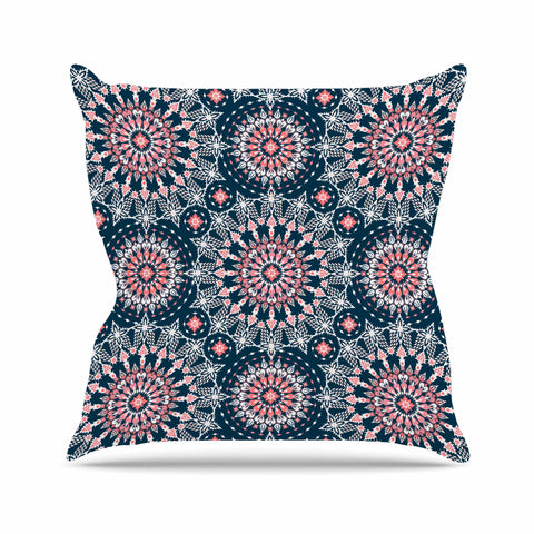"Nandita Singh ""Noor-blue"" Blue Pink Digital Throw Pillow"