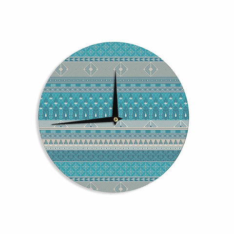"Nandita Singh ""Maya"" Blue Teal Digital Wall Clock"