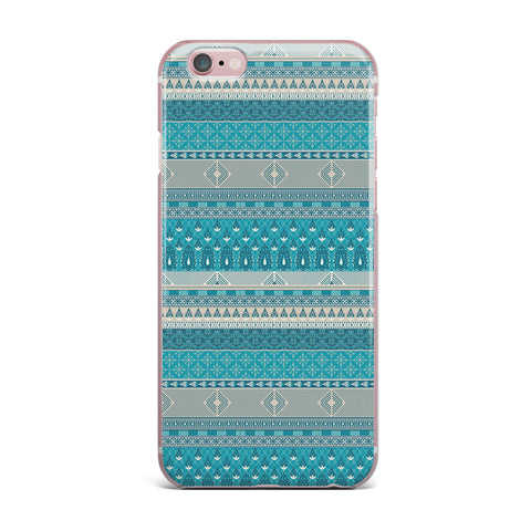 "Nandita Singh ""Maya"" Blue Teal Digital iPhone Case"