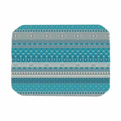 "Nandita Singh ""Maya"" Blue Teal Digital Place Mat"