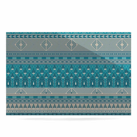 "Nandita Singh ""Maya"" Blue Teal Digital Luxe Rectangle Panel"