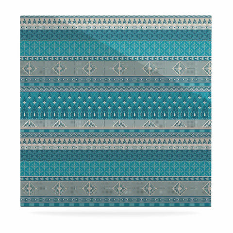 "Nandita Singh ""Maya"" Blue Teal Digital Luxe Square Panel"