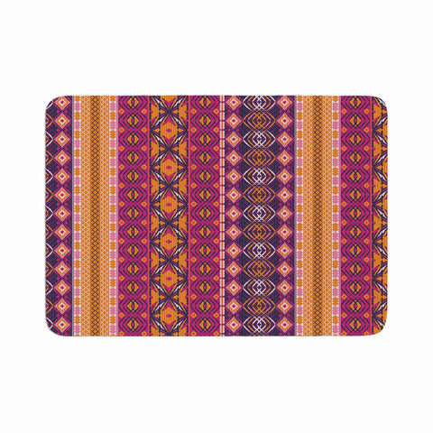 "Nandita Singh ""Banjara-Purple And Pink"" Purple Pink Digital Memory Foam Bath Mat"