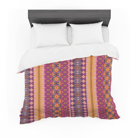 "Nandita Singh ""Banjara-Purple And Pink"" Purple Pink Digital Featherweight Duvet Cover"