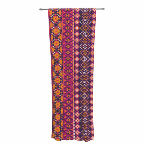 "Nandita Singh ""Banjara-Purple And Pink"" Purple Pink Digital Decorative Sheer Curtain"