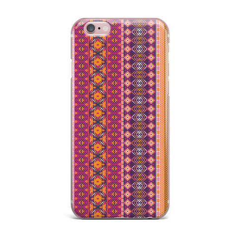 "Nandita Singh ""Banjara-Purple And Pink"" Purple Pink Digital iPhone Case"