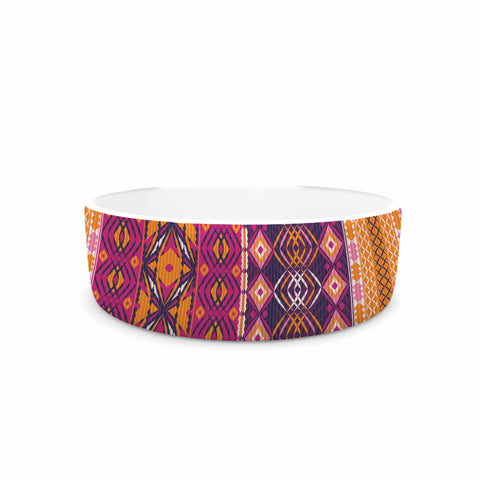 "Nandita Singh ""Banjara-Purple And Pink"" Purple Pink Digital Pet Bowl"