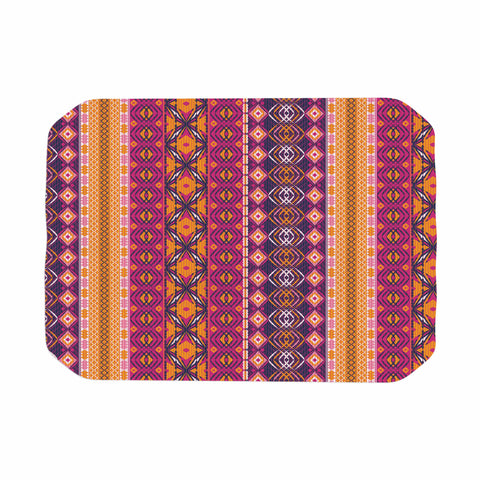 "Nandita Singh ""Banjara-Purple And Pink"" Purple Pink Digital Place Mat"