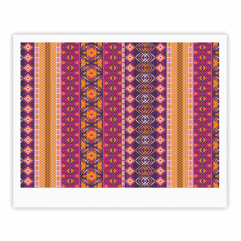 "Nandita Singh ""Banjara-Purple And Pink"" Purple Pink Digital Fine Art Gallery Print"