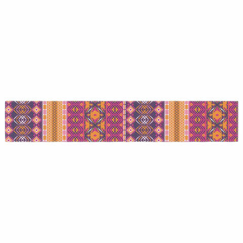 "Nandita Singh ""Banjara-Purple And Pink"" Purple Pink Digital Table Runner"
