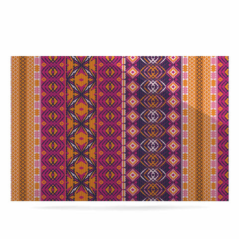 "Nandita Singh ""Banjara-Purple And Pink"" Purple Pink Digital Luxe Rectangle Panel"