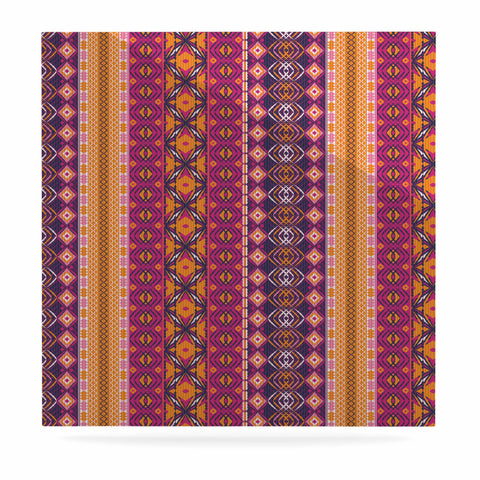 "Nandita Singh ""Banjara-Purple And Pink"" Purple Pink Digital Luxe Square Panel"