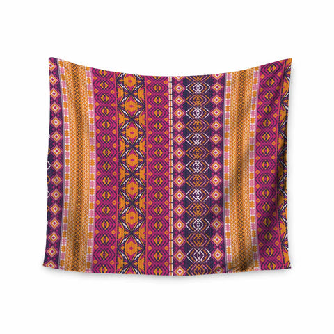 "Nandita Singh ""Banjara-Purple And Pink"" Purple Pink Digital Wall Tapestry"