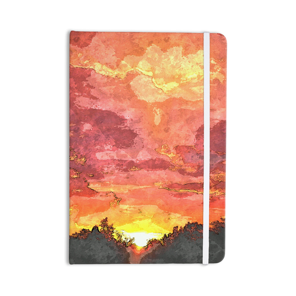 "Oriana Cordero ""Horizon"" Orange Sky Everything Notebook - KESS InHouse  - 1"