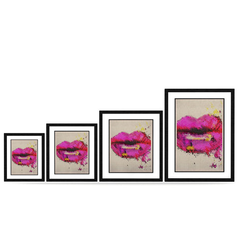 "Oriana Cordero ""Kiss Me"" Pink Lips KESS Naturals Canvas (Frame not Included) - KESS InHouse"