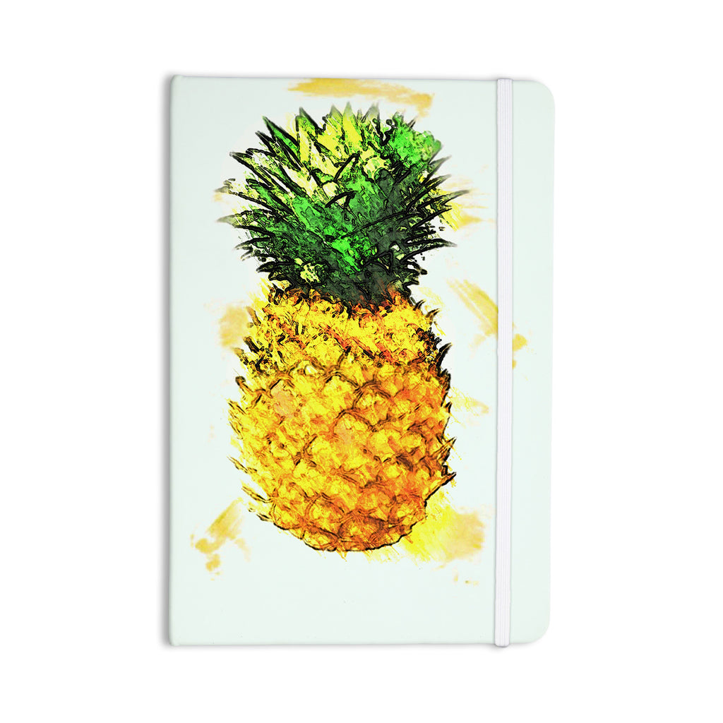"Oriana Cordero ""Slice of Summer"" White Yellow Everything Notebook - KESS InHouse  - 1"