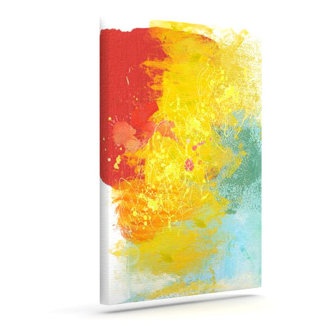 "Oriana Cordero ""Medley"" Colorful Paint Canvas Art - KESS InHouse  - 1"