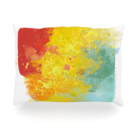 "Oriana Cordero ""Medley"" Colorful Paint Oblong Pillow - KESS InHouse"