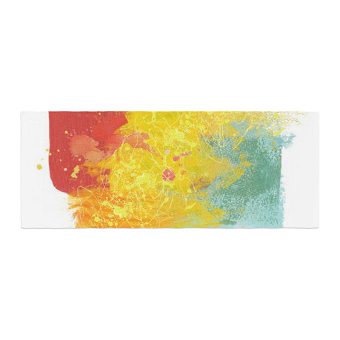 "Oriana Cordero ""Medley"" Colorful Paint Bed Runner - KESS InHouse"