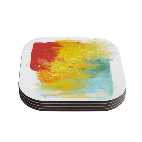 "Oriana Cordero ""Medley"" Colorful Paint Coasters (Set of 4)"