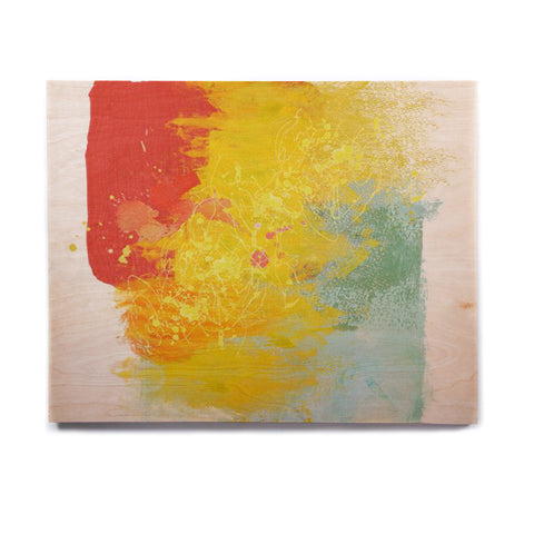 "Oriana Cordero ""Medley"" Colorful Paint Birchwood Wall Art - KESS InHouse  - 1"
