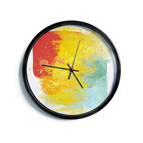 "Oriana Cordero ""Medley"" Colorful Paint Modern Wall Clock"